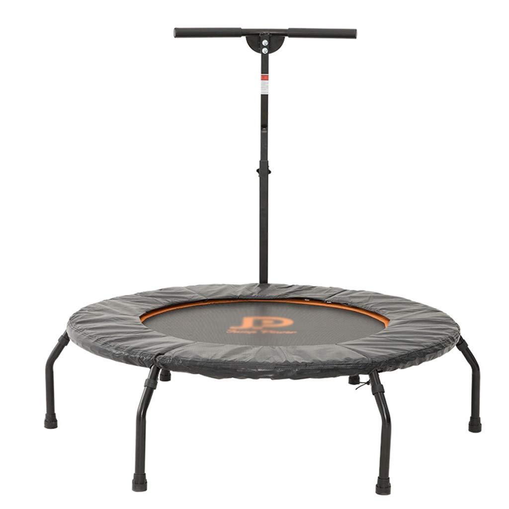 Trampoline Armlehnen Erwachsene Fitnessstudio für zu Hause Gewichtsverlust für bis zu 130 kg (Farbe : Orange, Größe : 111.7  111.7  154cm)