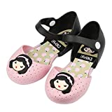 iFANS Girls Princess Jelly Shoes Toddler Kids Mary Jane Flats