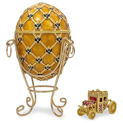 BestPysanky 1897 Coronation Royal Russian Egg 7 Inches