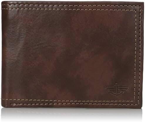 Dockers Men's RFID Blocking Extra Capacity Leather Bifold Wallet