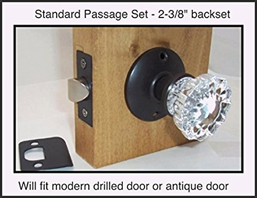 A very affordable Do-It-Yourself 12 point Fluted Crystal Glass Door Knob Sets for Modern Doors. Our Original Wood Adapters to install in modern pre-drilled doors(2-3/8 Residential - Reproduction Door