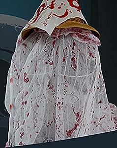 anleolife Spooky Halloween espeluznante gamuza partido Drape puertas Entryways–Felpudo funda de tela de Windows gasa Decor reutilizable, mix