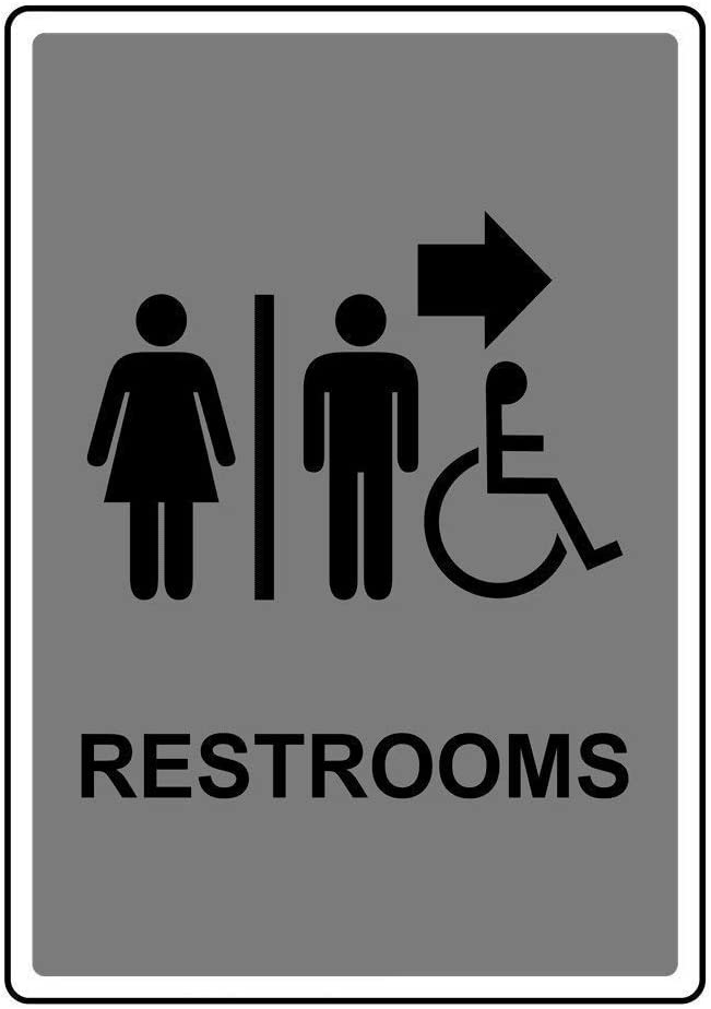 Street Signs DYLAN MILLER Road Sign Restrooms Sign BIN0503 8 x 12 Inches Metal Sign Durable Indoor and Outdoor Signs