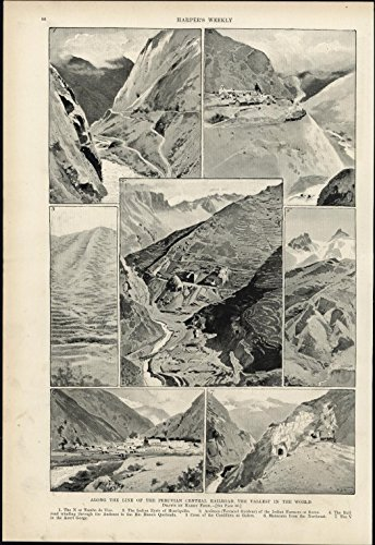 Peruvian Central Railroad 1897 vintage newsprint old sheet (Peruvian Paper)