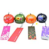 Cheap SUNONE11 4pcs Spring Summer Fall Winter Ceramic Wind Bell Garden Chime Birthday Christmas Gift Home Decors Window Hanging Ornaments