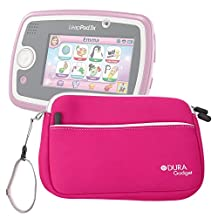 "DURAGADGET Hot Pink 8"" Neoprene Carry Case with Front Storage Compartment for New Leapfrog EPIC Tablet / LeapPad 3 / LeapPad 3x / LeapPad Ultra XDI"