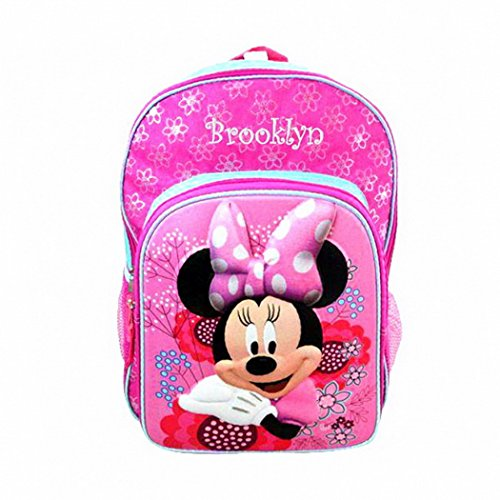 (Personalized Licensed Disney Character Backpack - 16 Inch (Disney's Minnie)