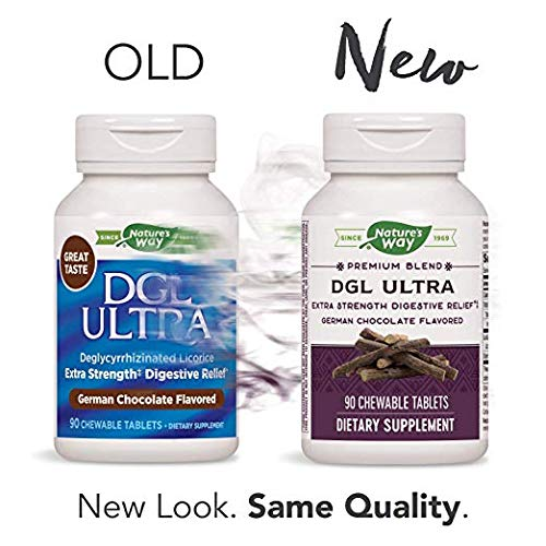 Enzymatic Therapy DGL Ultra Extra-Strength Deglycyrrhizinated Licorice German Chocolate - 90 CT (2 Pack)