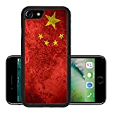 Luxlady Premium Apple iPhone 7 Aluminum Backplate Bumper Snap Case iPhone7 IMAGE ID 31117109 flag of China or Chinese banner on vintage metal texture