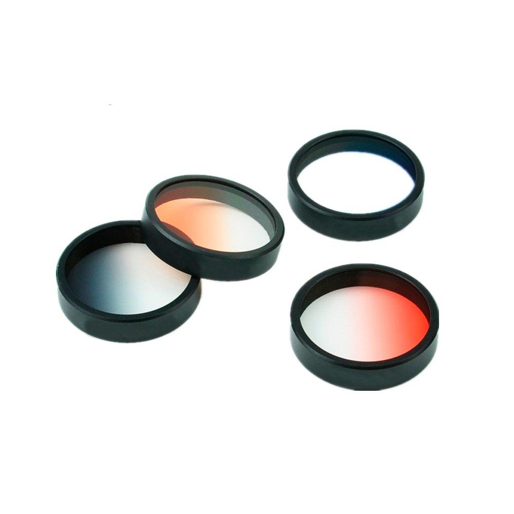 Zhuhaixmy Gradient Neutral Dichte Rot/Grau/Blau/Orange Filter Linse Set für DJI Phantom 3/4