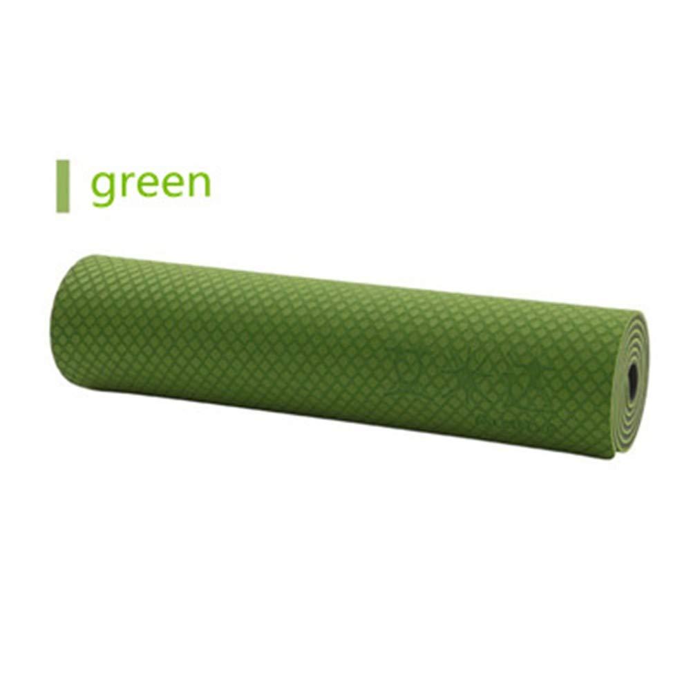XPORTOR Yoga Matte TPE Yogamatte Doppelseitig Rutschfeste Umwelt Mehrfarbige Yoga Matte Fitness Übung Pilates Fitness Yoga Matte