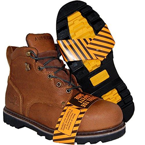 Schoenartiesten Goodyear Welted Stalen Neus Lederen 6 Inch Werkschoen, Heren
