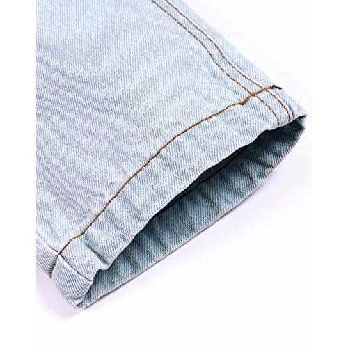 LOKTARC Boys Pull-On Ripped Distressed Jeans Stretch Denim Pants