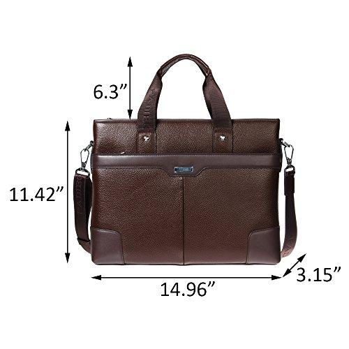 Maletín de cuero formal Maletín de negocios portátil para hombres (azul) marrón
