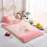 100% Cotton Kids Sleeping Bag-Anti-kicking Quilt-Toddler Bedding Set