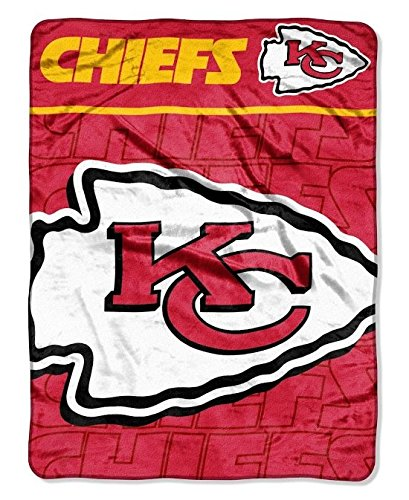 Blanket Throw Micro 50x60 Raschel (The Northwest Company NFL Kansas City Chiefs Micro Raschel Plush Throw Blanket, Livin Large Design, 50