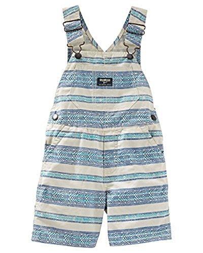 Oshkosh B'Gosh Baby Boys' Shortalls- Breezy Blue Stripes- 6 Months