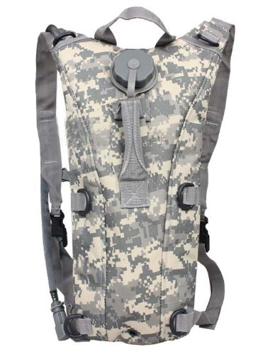 Digital Hydration Pack - Ultimate Arms Gear Tactical ACU Army Digital Camouflage Hydration Backpack Carrier With 84 oz. Water Drinking Bladder Reservoir Capacity System