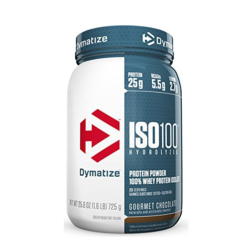 Dymatize ISO 100 Hydrolyzed Whey Protein Isolate - Gourmet Chocolate 1.6 lbs ()