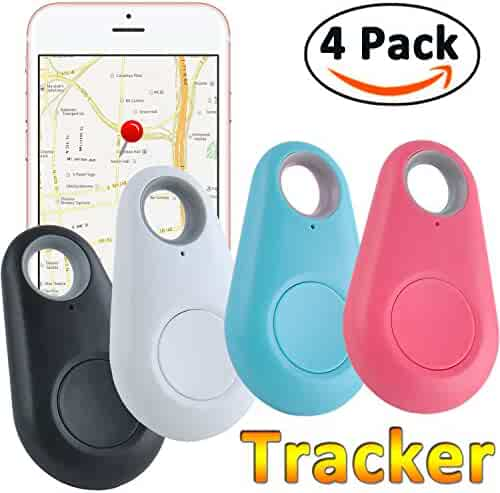 GBD Smart Finder Bluetooth Locator Pet Tracker Alarm for Key Wallet Car Kids Dog Cat Child Bag Phone Locator Selfie Shutter Wireless Seeker Anti Lost Sensor Birthday Gifts (Smart Finder 4pack)