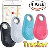 GBD Smart Finder Bluetooth Locator Pet Tracker Alarm Key Wallet Car Kids Dog Cat Child Bag Phone Locator Selfie Shutter Wireless Seeker Anti Lost Sensor (Random Color 4pcs)