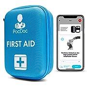 PocDoc Outdoor – Intelligentes Erste Hilfe Set nach DIN 13167 mit APP (Menschen & Tiere)- Reisen, Sport & Motorrad…