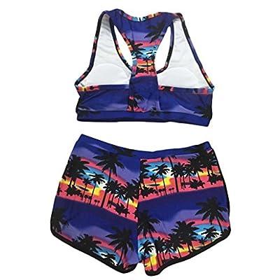 TOP HERE Women's Bandage Sporty Bathing Suit Boyleg Short Bikini Swimsuit: Clothing