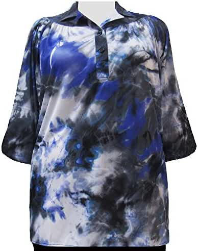 A Personal Touch Eclipse 3/4 Sleeve Pullover Women's Plus Size Top