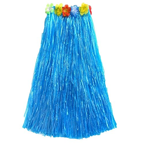 Blue Hawaiian Dress Costume - AEXGE Trade;Adult Hawaiian Grass Skirt 31