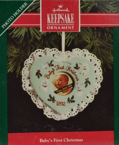 Hallmark Keepsake Ornament Baby's First Christmas 1992 Photo Holder QX4641