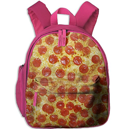 Pizza Kid's School Backpack Children School Bag Pink For Boy's Girl's