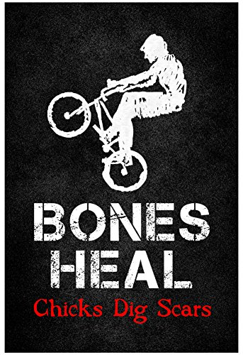 Music Posters Bone (Bones Heal Chicks Dig Scars BMX Sports Poster Print 13 x)