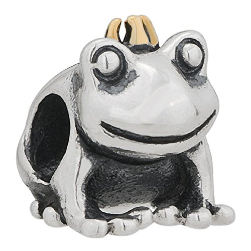 - Frog Charm Golden 925 Sterling Silver Charm Fit European Charm Bead