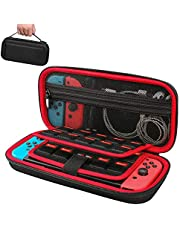 Raydem Carrying Case for Nintendo Switch with 19 Game Cartridges and 2 Micro SD Card Slots, Protective Hard Shell Travel Carrying Case Large Capacity Pouch for Nintendo Switch Console & Accessories