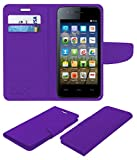 Acm Mobile Leather Flip Flap Wallet Case for Micromax Bolt A067 Mobile Cover Purple