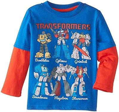 Transformers Boys' Group Long Sleeve Two-Fer T-Shirt