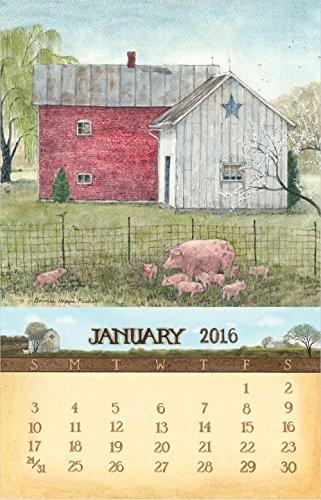 Legacy Publishing Group 2016 Mini Magnetic Calendar, Coun...