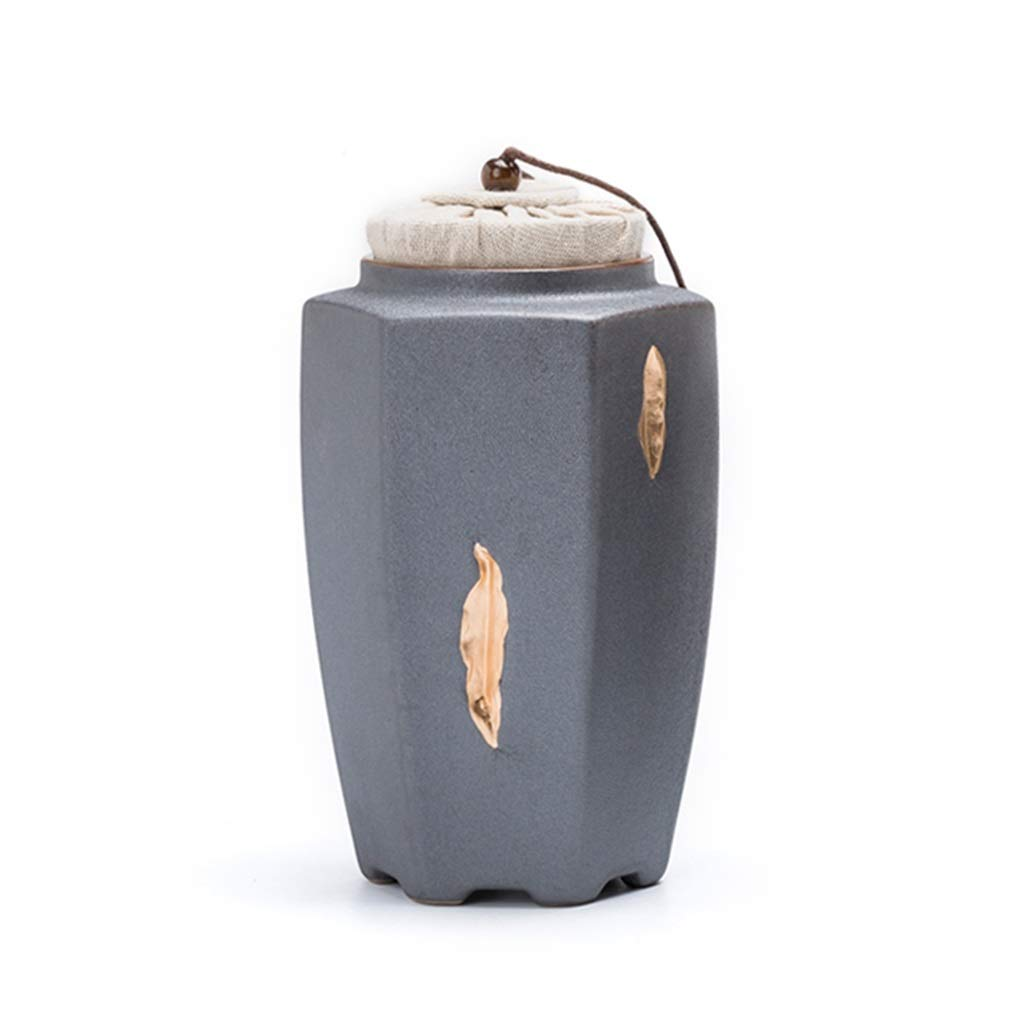 L Pet Cremation Urn Ceramics Cat Dog, Cremation Seal Moisture Proof Ashes Funeral Casket Small Coffin (Size   L)