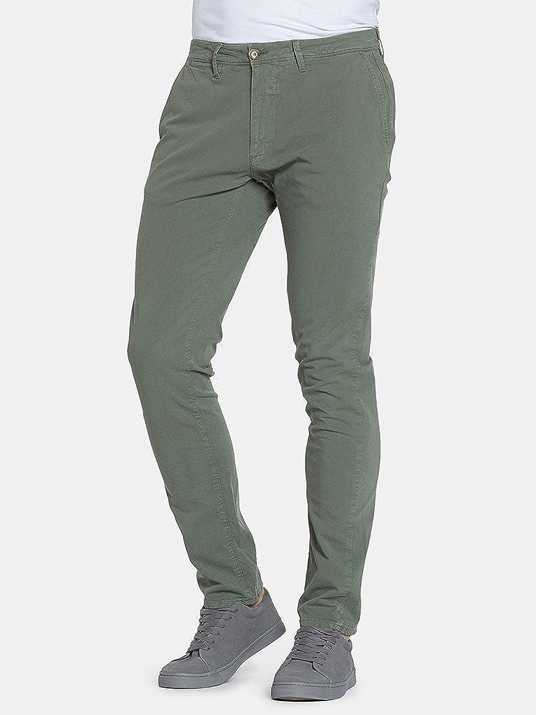 Carrera Jeans - Pantalone chino 617 per uomo, modello dritto, tinta unita, tessuto gabardina, vestibilità slim, vita bassa