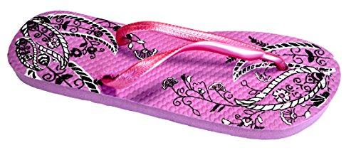 OCTAVE® de varios Paisley mujer estilos para verano colores colección de Colección Design chancletas Rosa de chanclas y Yvwfqdd