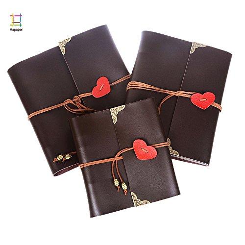 Lavenz PU Leather 30 Black Paper Sheets Love Heart Theme Wedding DIY Album Handmade Vintage Photo foto Scrapbooking Album...