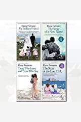 Neapolitan Novels Series Elena Ferrante Collection 4 Books Bundle (My Brilliant Friend, The Story of a New Name, Those Who Leave and Those Who Stay, Story of the Lost Child) Paperback