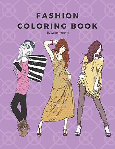Pdf Photography Fashion Coloring Book: 100 pages with 20 different fashion templates, Gifts for girls to log their favorite style