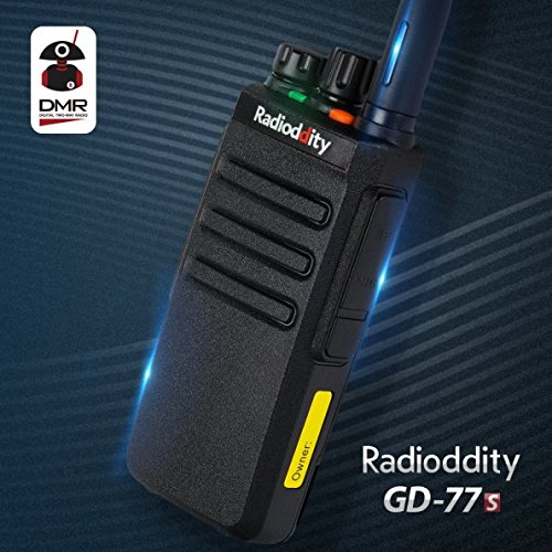 Radioddity GD-77S DMR Dual Band Two Way Radio Digital/Analog 136-174/400-470MHz Walkie Talkie 1024CH, Voice Prompt, For Commercial Use by Radioddity (Image #1)
