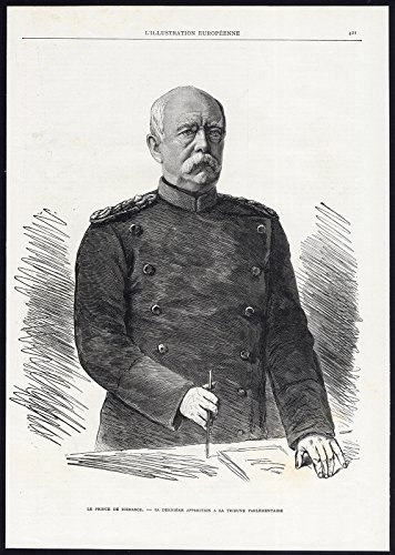 Antique Print-PORTRAIT-OTTO Von Bismarck-Duke Of Lauenburg-Prussia-1885