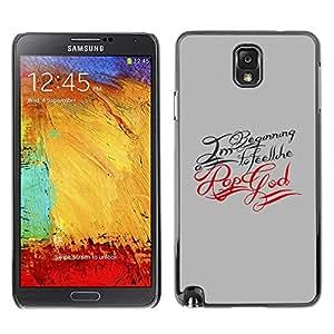 Slim Design Hard PC/Aluminum Shell Case Cover for Samsung Note 3 N9000 N9002 N9005 Rap God / JUSTGO PHONE PROTECTOR