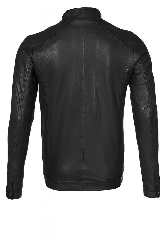 ABDys Men's Lambskin Leather jacket DKL660 Black