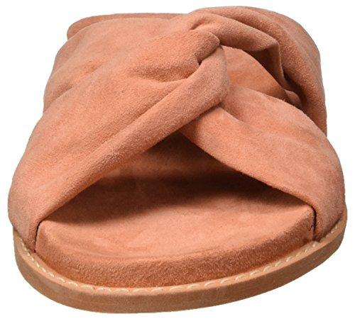Vero Moda Vmcelia Leather Sandal, Mulas Para Mujer Rosa (Desert Sand)