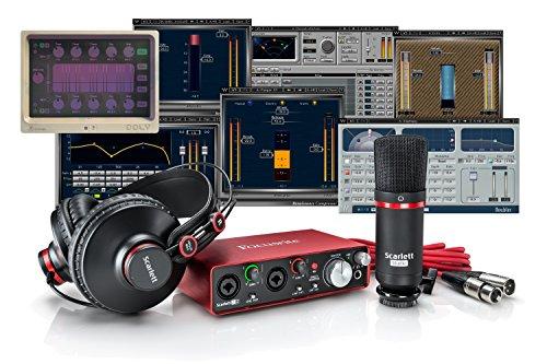 Focusrite Scarlett 2i2 Studio Bundle + Waves Musicians 2 + iZotope DDLY Dynamic Delay ()