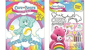 Care Bear Colouring Book And Colouring Set Set Of 2 Items Amazon